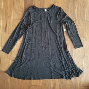 Old Navy Jersey Knit Long Sleeve Swing Dress